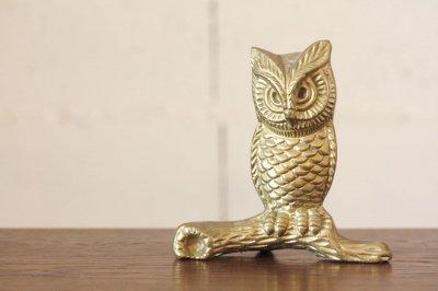 イギリス 真鍮フィギュア フクロウ