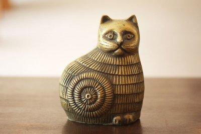 アメリカ 真鍮フィギュア ネコ