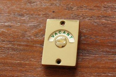 イギリス 室内用ドアロック VACANT / ENGAGED ゴールド