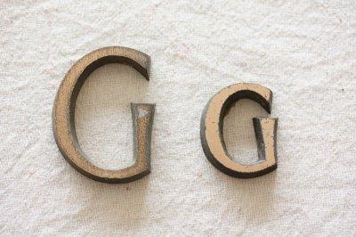 イギリス オールドサインレター G