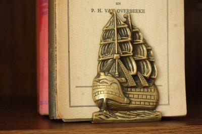 イギリス 真鍮ブックエンド ヴィクトリー号