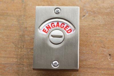 室内用ドアロックCN 表示窓VACANT / ENGAGED シルバー