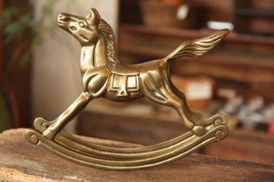 アメリカ 真鍮フィギュア ロッキングホース