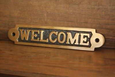 真鍮サインプレート Welcome