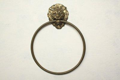 イギリス 真鍮タオルハンガー 獅子