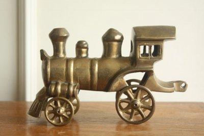 アメリカ 真鍮フィギュア 機関車