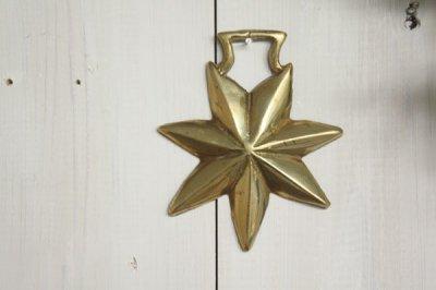 イギリス 真鍮プレート 星