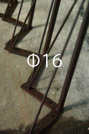 アイアンレッグ-チョコレートカラーの錆びた鉄脚4本set・Φ16