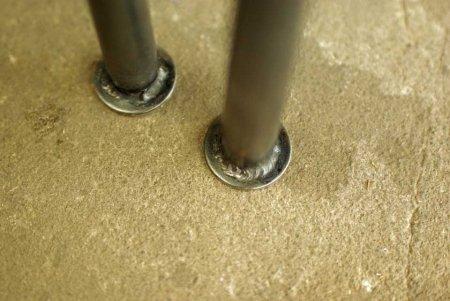 アイアンレッグ-鉄脚用丸フランジ溶接オプション加工
