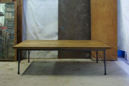 楢古材テーブル001