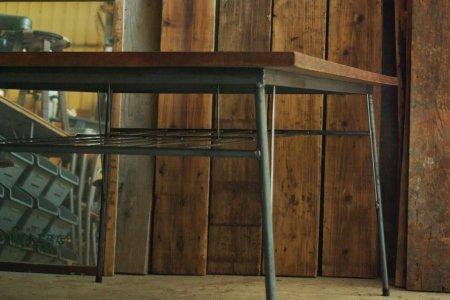 レッドオーク古材鉄脚テーブル003