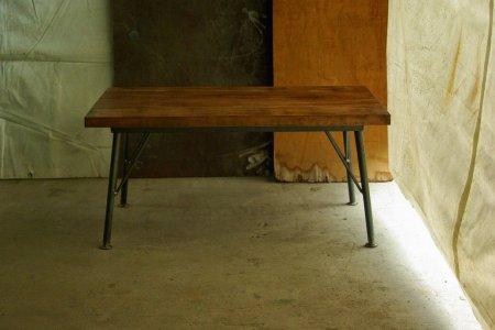 カバ古材鉄脚テーブル001