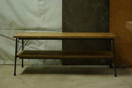 メープル古材鉄脚テーブル001