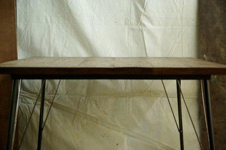 タモ古材鉄脚テーブルタモ古材002