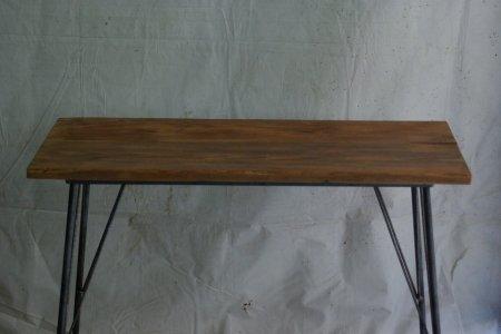 アンティークパイン鉄脚テーブル001