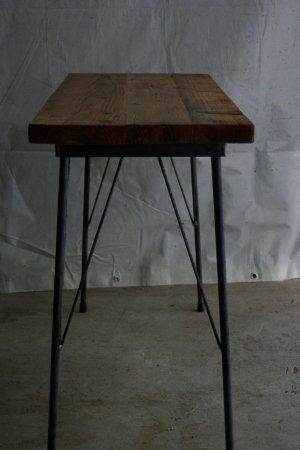 足場板古材鉄脚テーブル