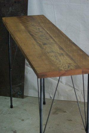 オーク古材鉄脚テーブル001
