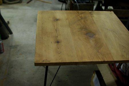 アンティークパイン鉄脚テーブル002