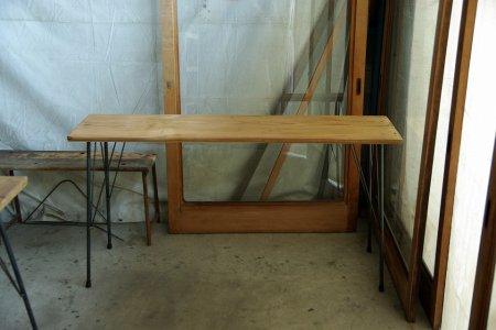 アンティークパイン鉄脚テーブル003
