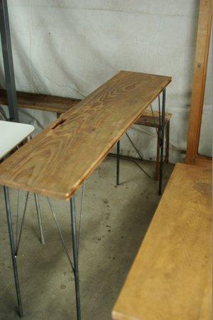 アンティークパイン鉄脚テーブル004