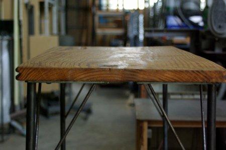 アンティークパイン鉄脚テーブル005
