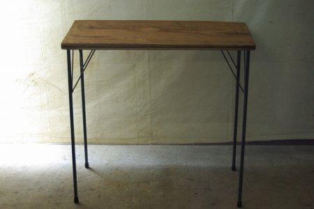 アンティークパイン鉄脚テーブル006