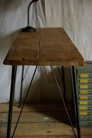 アンティークパイン鉄脚テーブル008