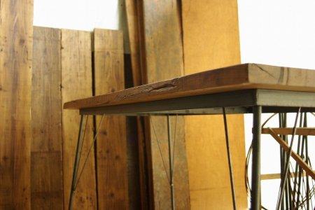 カバ古材鉄脚テーブル002