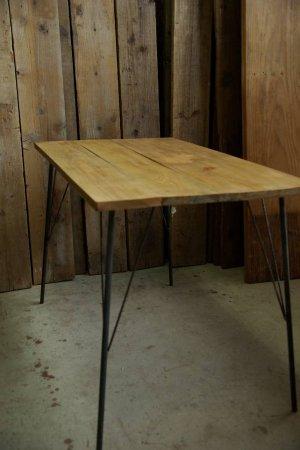 ニレ古材鉄脚テーブル