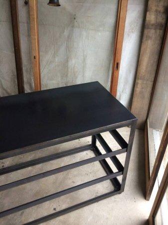 アイアンシェルフー専用 黒皮鉄の天板