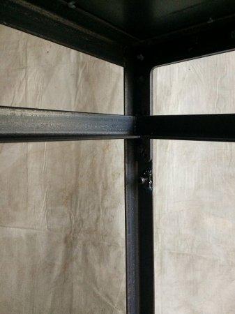 アイアンシェルフー専用中間棚・アングル枠の取外し可能受け金具の追加オプション