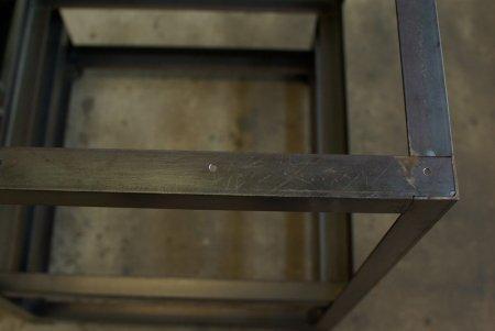 アイアンシェルフー専用天板取付穴の加工や壁への取り付け穴加工