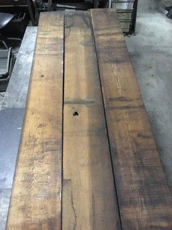 ビンテージレッドオーク古材天板