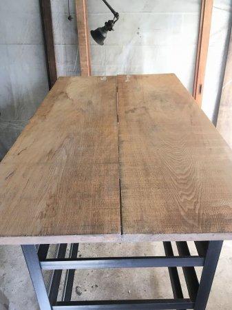 タモ無垢古材 天板製作オーダー