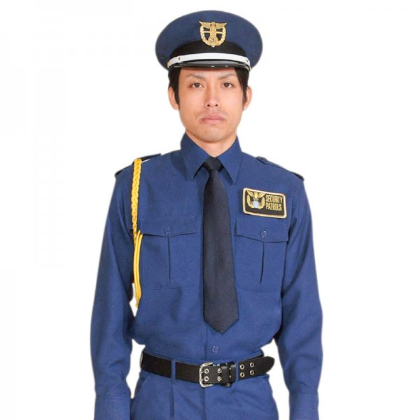 1102TL男子立襟シャツ<群青>