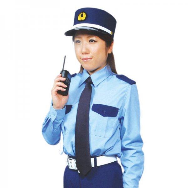 2052TL女子立襟シャツ〈水色ツートン〉