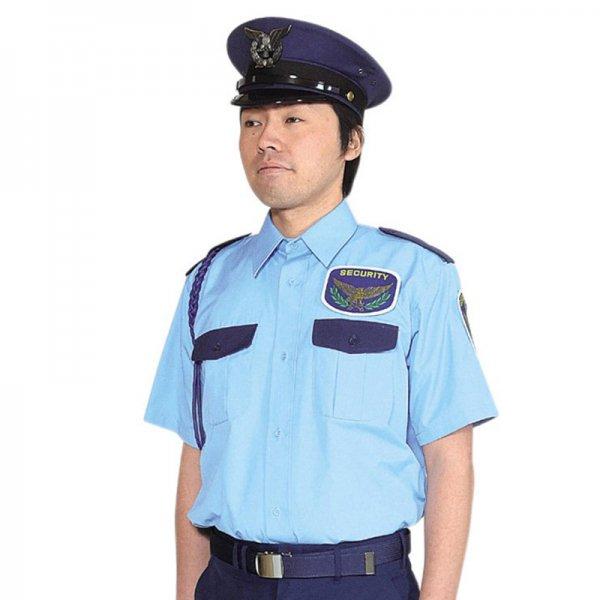 1052TH男子立襟シャツ〈水色ツートン〉