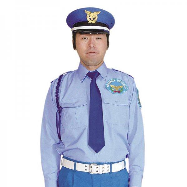 1153TL男子立襟シャツ〈水色〉