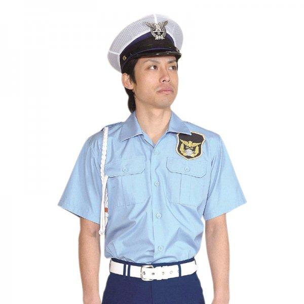 1051KH男子開襟シャツ〈水色〉