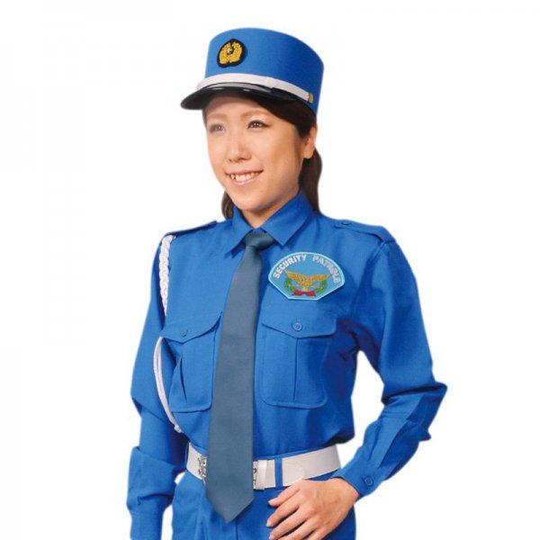 2041TL女子立襟シャツ〈ブルー〉