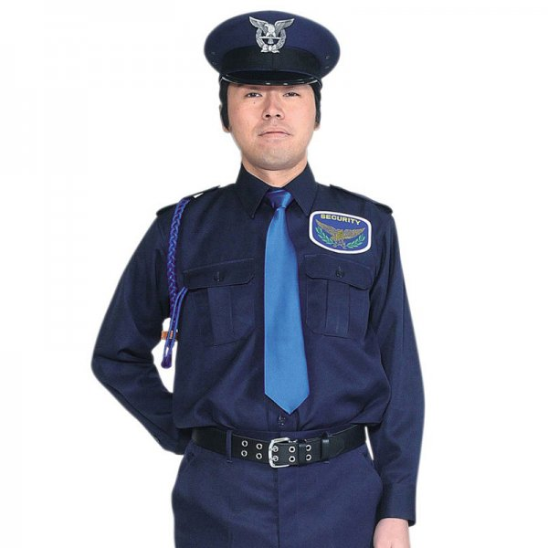 1601TL男子立襟シャツ〈濃紺〉