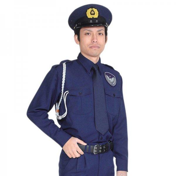 1602TL男子立襟シャツ〈紺〉