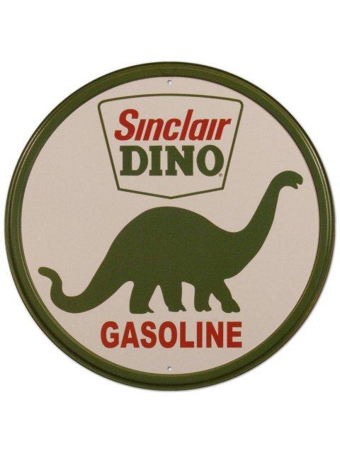 SINCLAIR DINO GASOLINE (DINOCO石油)ブリキ看板