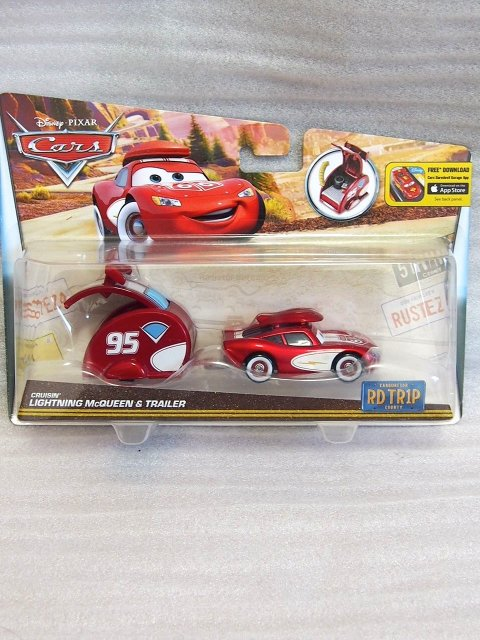 CRUISIN LIGHTNING MCQUEEN WITH TRAILER ROAD TRIP series 2016