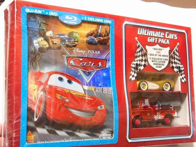 訳有特価】ULTIMATE CARS GIFT PACK BLU-RAY + DVD and 限定ゴールドマックイーン+レスキューメーター2種セット