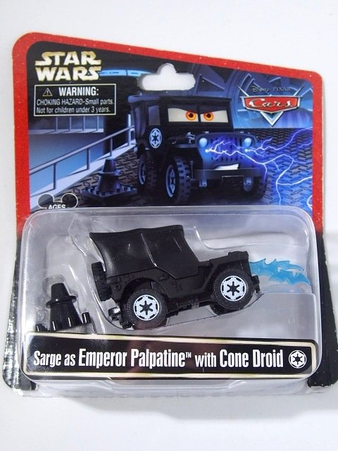 STAR WARS x CARS! SARGE AS EMPEROR PALPATINE WITH CONE DROID 2015年限定品