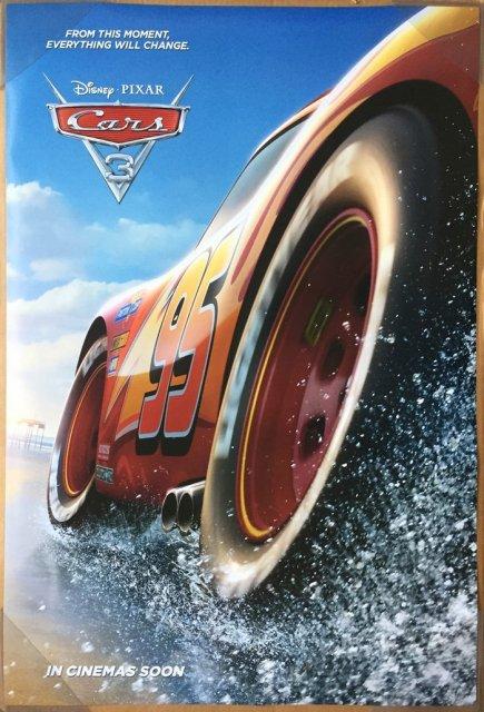 映画カーズ3 (カーズクロスロード) 劇場展示用オリジナルポスター (スプラッシュ版)インターナショナル版