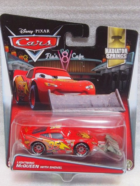 訳有特価】LIGHTNING McQUEEN WITH SHOVEL 2017