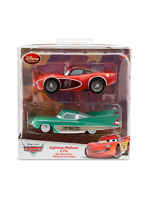 DISNEY STORE| LIGHTNING McQUEEN and FLO 2PACK