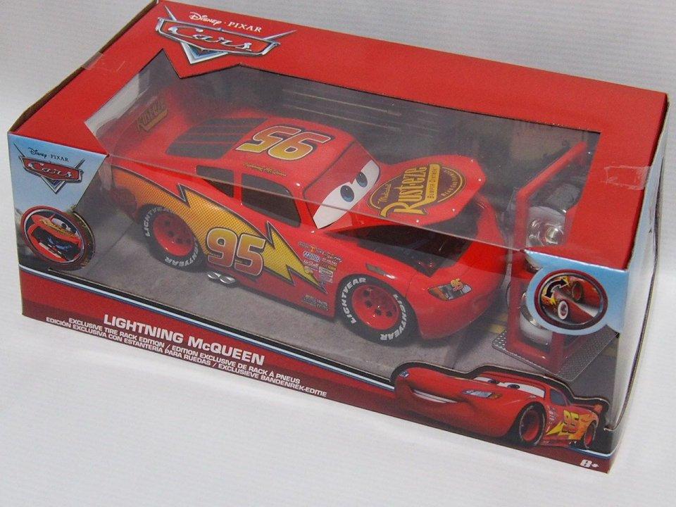 jada toys lightning mcqueen exclusive tire rack edition 1 24